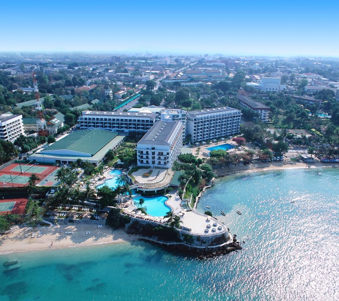 Aerial view of the luxurious Dusit Thani Pattaya