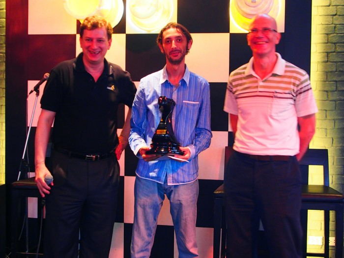 Riste Menkinoski, winner of the 1st BCC CheckMate Rapid Tournament