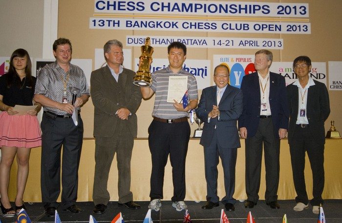 Australian Grandmaster Zhao Zong-Yuan takes the Thailand Open Crown