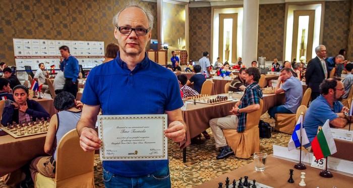 Timo Tuomala at the 14th Bangkok Chess Club